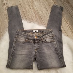 Closed pedal star gray skinny jeans size 26